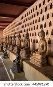 Buddhas in wat Sisaket, Vientiane, Laos