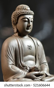the Buddha-style Zen on natural background