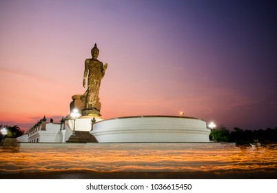 Buddhism light waving rite in Magha Puja, Day at Thailand.