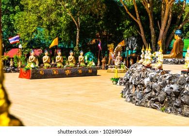 Buddhism statue at Wiang Ka Long cultural city, Thailand.