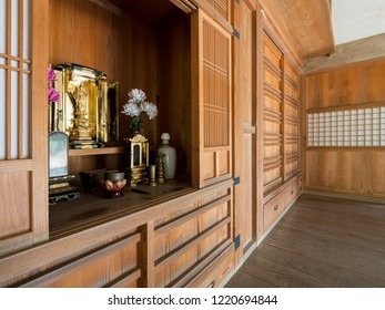 Buddhist altar of Japanese old houses