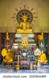 Buddhist altar in the monastery.