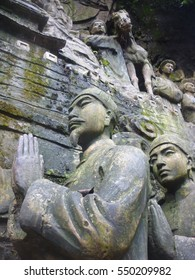 Buddhist art and architecture at a temple on Mount Emei Shan in Szechuan Province, China
