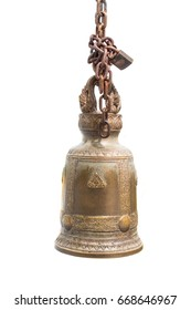 Buddhist bell isolated on white background