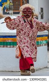Buddhist Cham Dance at Leh, ladakh, India
