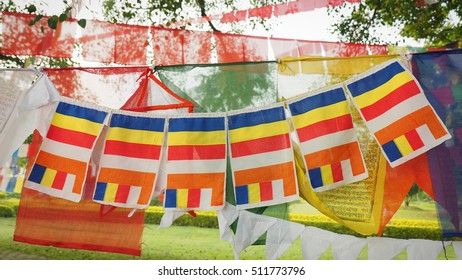 The Buddhist flag, 6 colors