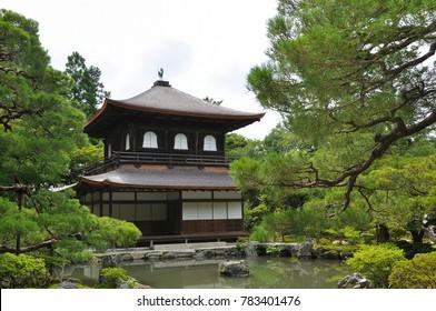 Buddhist Ginkaku-ji in Kyoto, Japan