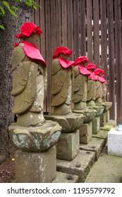 Buddhist guardian deity of children and travelers, or Bodhisattva Jizo, or statue of the Buddhist deity called Jizo or Ojizo
