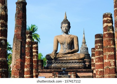 Buddhist Image in Sukothai Historical Park, Thailand
