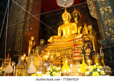 The Buddhist image in temple Thailand