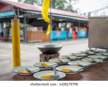 The Buddhist Lent Day: The First Day of Rainy Season Retreat. Candle casting for the Buddhist lent day, The tradition of the candle casting thai Buddhist