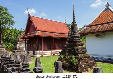Buddhist monastery at Buppharam temple in Trat province located in the east of Thailand