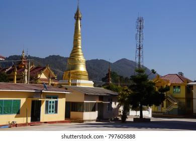 Buddhist monastery in  Kalaw,  Myanmar (Burma)