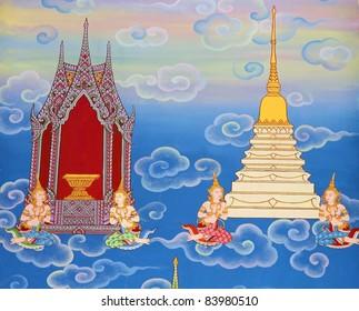 Buddhist murals.