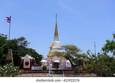 Buddhist pagoda on mountain at Songkhla Southern Thailand:Select focus with shallow depth of field.