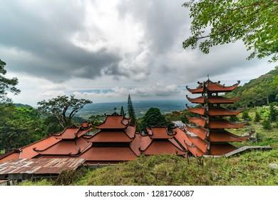 Buddhist pagoda in Ta Cu Mountain in Phan Tiet, Vietnam
