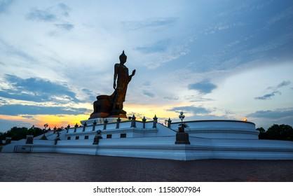 Buddhist park in the Phutthamonthon district, Buddha Monthon. Nakhon Pathom Province of Thailand.