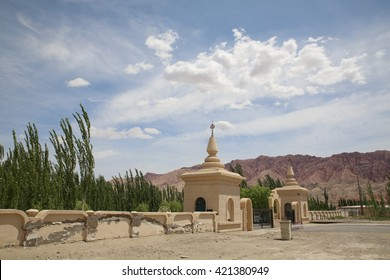 Buddhist Place in Sinjiang Uighur Autonomy Region.  It is an ancient Uighur Empires treasure in Kizil near Kucha city. It was a buddhist city on the Canyons.
