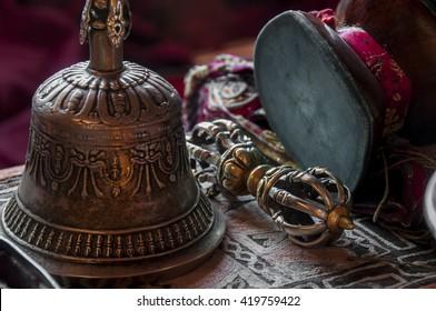 Buddhist religious equipment - Vajra Dorje and bell