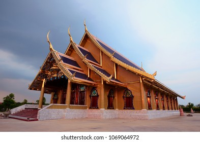 Buddhist sanctuary and church at Pra Bhudda sangtham temple, Saraburi province, Thailand.