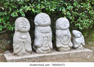 Buddhist statues in Sagano area of Kyoto, Japan