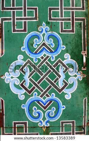 Buddhist Symbols Endless Knot Design Painted Stock Photo Edit Now