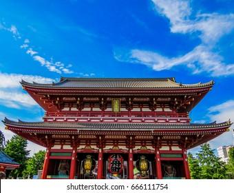 Buddhist temple in Asakusa, Tokyo, Japan