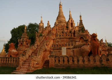 Buddhist temple in bagan, pagan, myanmar, burma