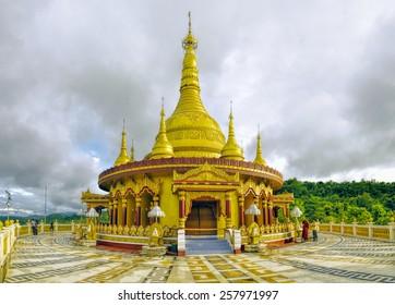 Buddhist temple in Banderban district in Bangladesh