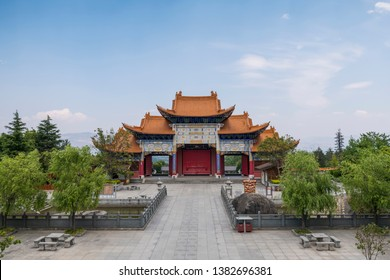 Buddhist temple building in Yunnan, China