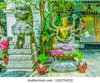 Buddhist Temple in Colombo, Sri Lanka