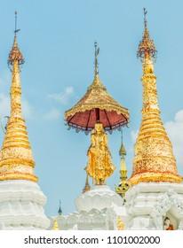 Buddhist Temple Complex near Yangon, Myanmar, previously known as Rangoon, Burma.