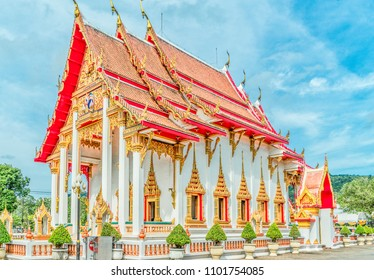 Buddhist Temple Complex in Phuket, Thailand