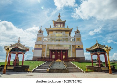 Buddhist temple Golden Abode of Buddha Shakyamuni in Elista, Republic of Kalmykia, Russia