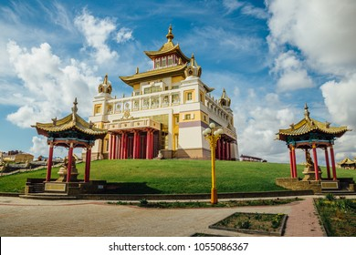 Buddhist temple Golden Abode of Buddha Shakyamuni in Elista, Republic of Kalmykia, Russia.