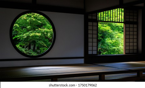 Buddhist temple and Green maple leafs in early summer, Kyoto Japan - Shutterstock ID 1750179062