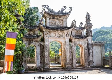 Buddhist temple at Huong Pagoda or Perfume Pagoda, My Duc District, Vietnam.