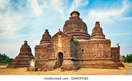 Buddhist temple Le-myet-hna in Mrauk U. Myanmar.