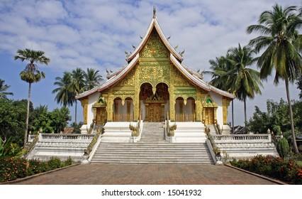 Buddhist temple in luang prabang, laos
