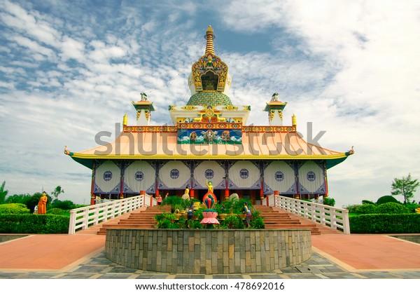 Buddhist temple in Lumbini