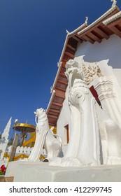 buddhist temple in Nan town, Thailand