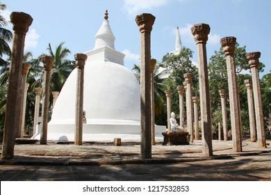 Buddhist temple on Mango plateau. Mihintale Sri Lanka