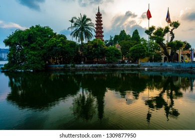 Buddhist temple on Westlake, Hanoi, Vietnam