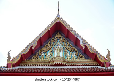 Buddhist temple roof gold