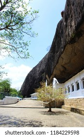 Buddhist temple was struck in the rocks