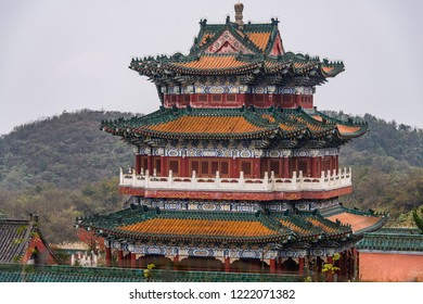 Buddhist Temple at the top of the Tianmen Mountain, Hunan