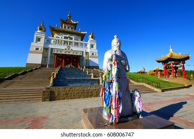 Buddhist temple.Elista.Kalmykia.Russia.