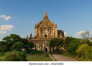 The buddhist Thatbyinnyu Temple in Myanmars famous Bagan Area was built until 1144 and has a height of 61 meters.
