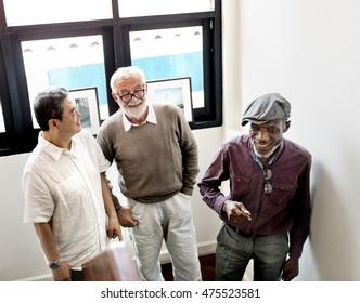 Buddies Friends Grandfather Group Men Retired Concept