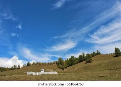 Buddish Stupa in mountain